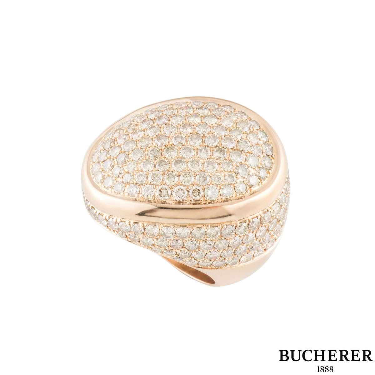 Bucherer Rose Gold Diamond Dress Ring